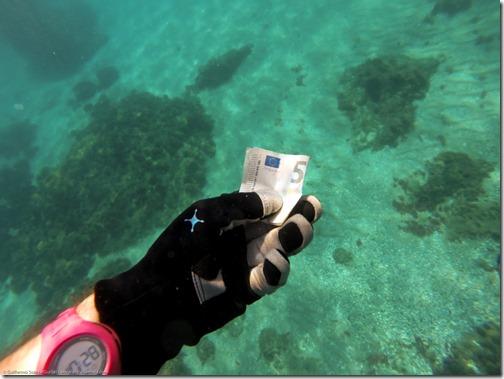 """los 5 euros que estaban donde las """"llaves"""" :-)"""