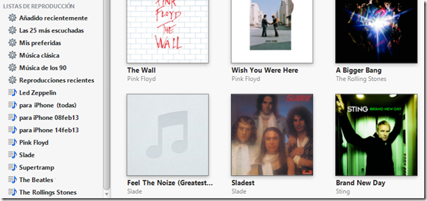 listas de iTunes