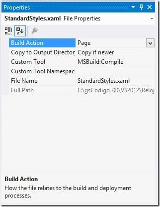 Build Action 02 - StandardStyles.xaml Page