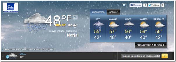 el tiempo en Nerja 19ene13 Yahoo  Clima
