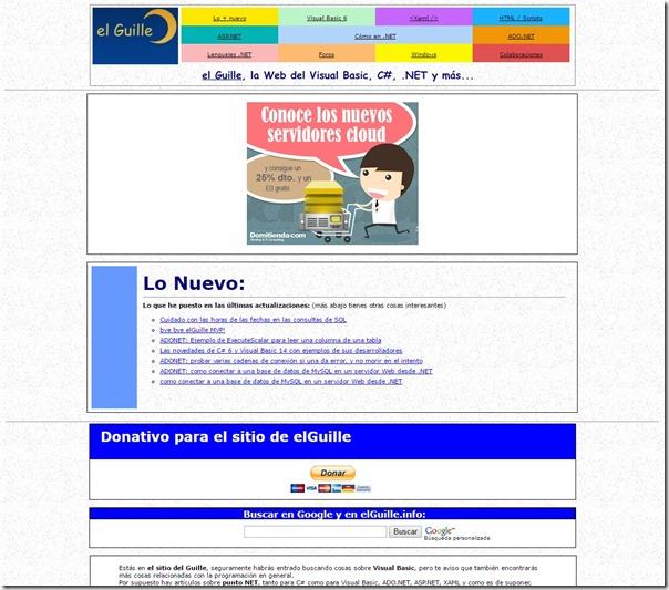 el Guille - La Web del Visual Basic C# .NET y más... en elGuille.info 20161126