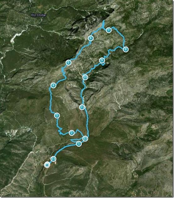 mapa El Almendrón - Endomondo