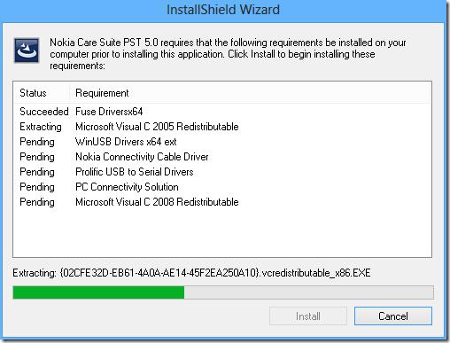 instalando Nokia Care Suite PST 5.0 - 1 -