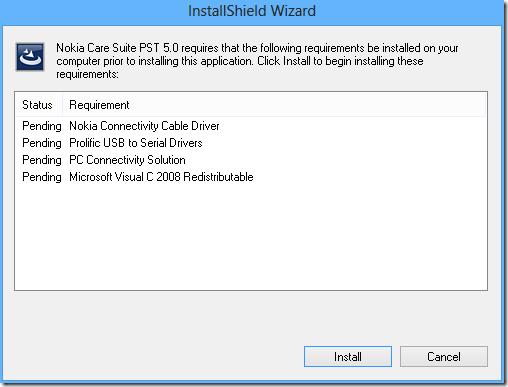 instalando Nokia Care Suite PST 5.0 - 2 - después de reiniciar