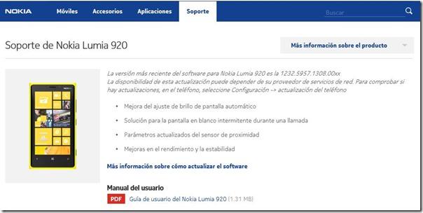 soporte Lumia 920