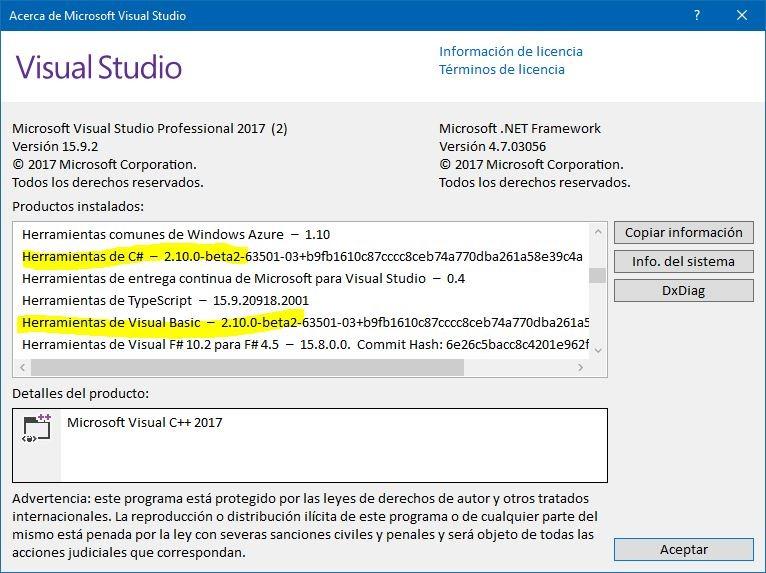 Las novedades de Visual Basic 15 5 y C# 7 3 | elGuille mola