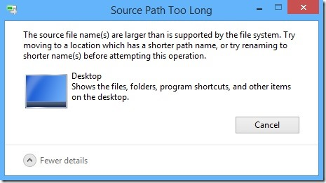 source path too long