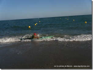 y como no venían las olas... por el rabalaje...