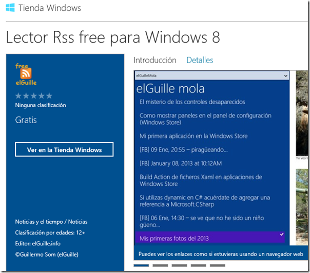 lector Rss free en Windows Store