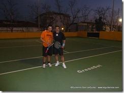 con Germán Roldán después de terminar...
