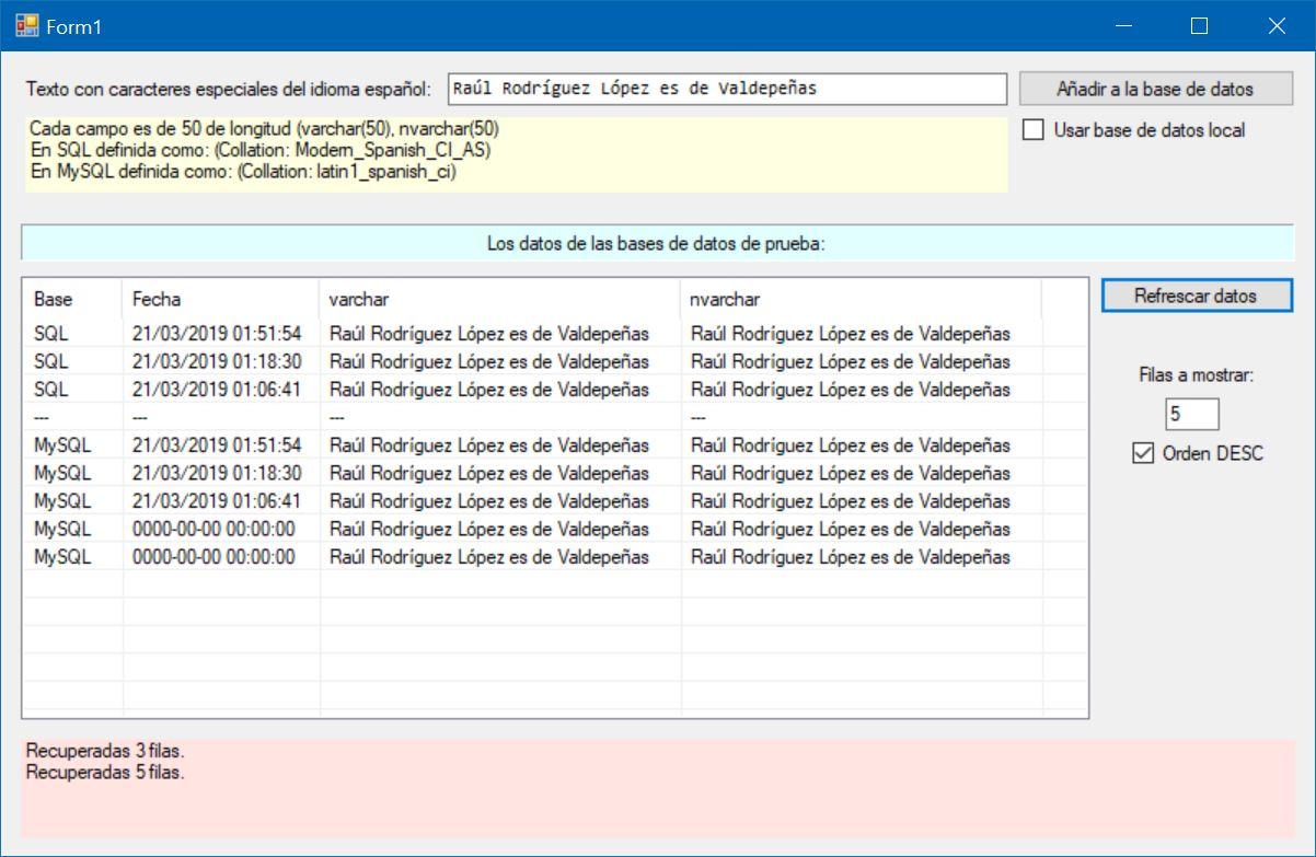 Figura 2. La aplicación operativa con acceso remoto después de los cambios hechos en el hosting.
