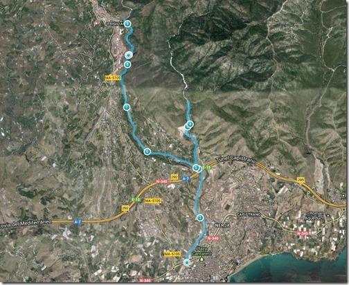 mapa chillar higueron 14dic13 - Endomondo