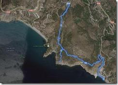mapa del recorrido con Endomondo