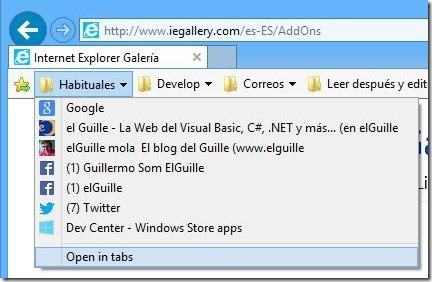 IE open in tabs