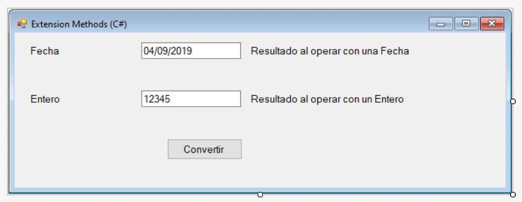 Figura 1. El formulario en modo diseño