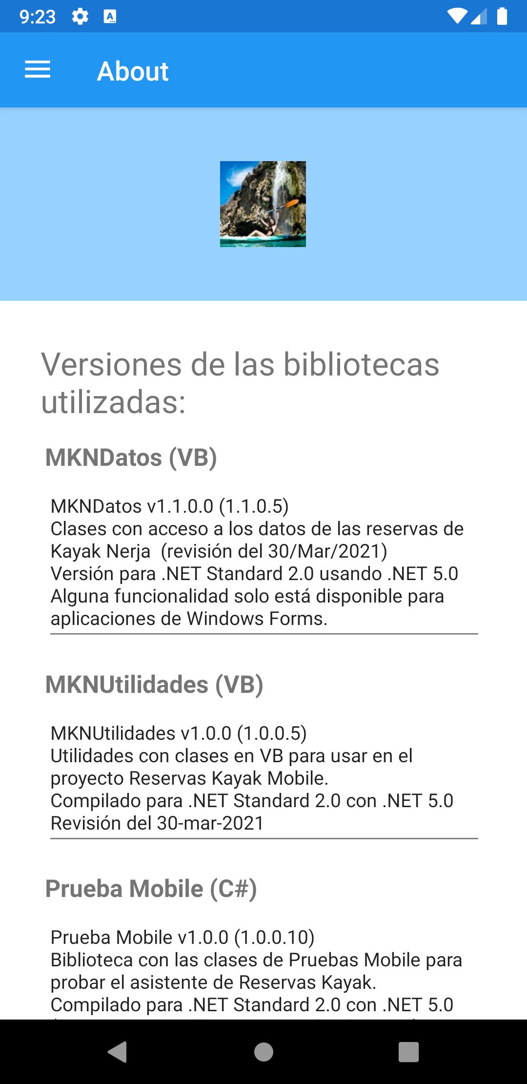 Figura 1. Captura en el emulador de Android.